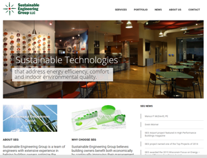 sustainable engineering group website design