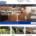 Yutka Fence Kenosha web design screen