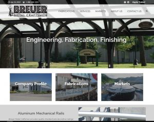 breuer metal website design