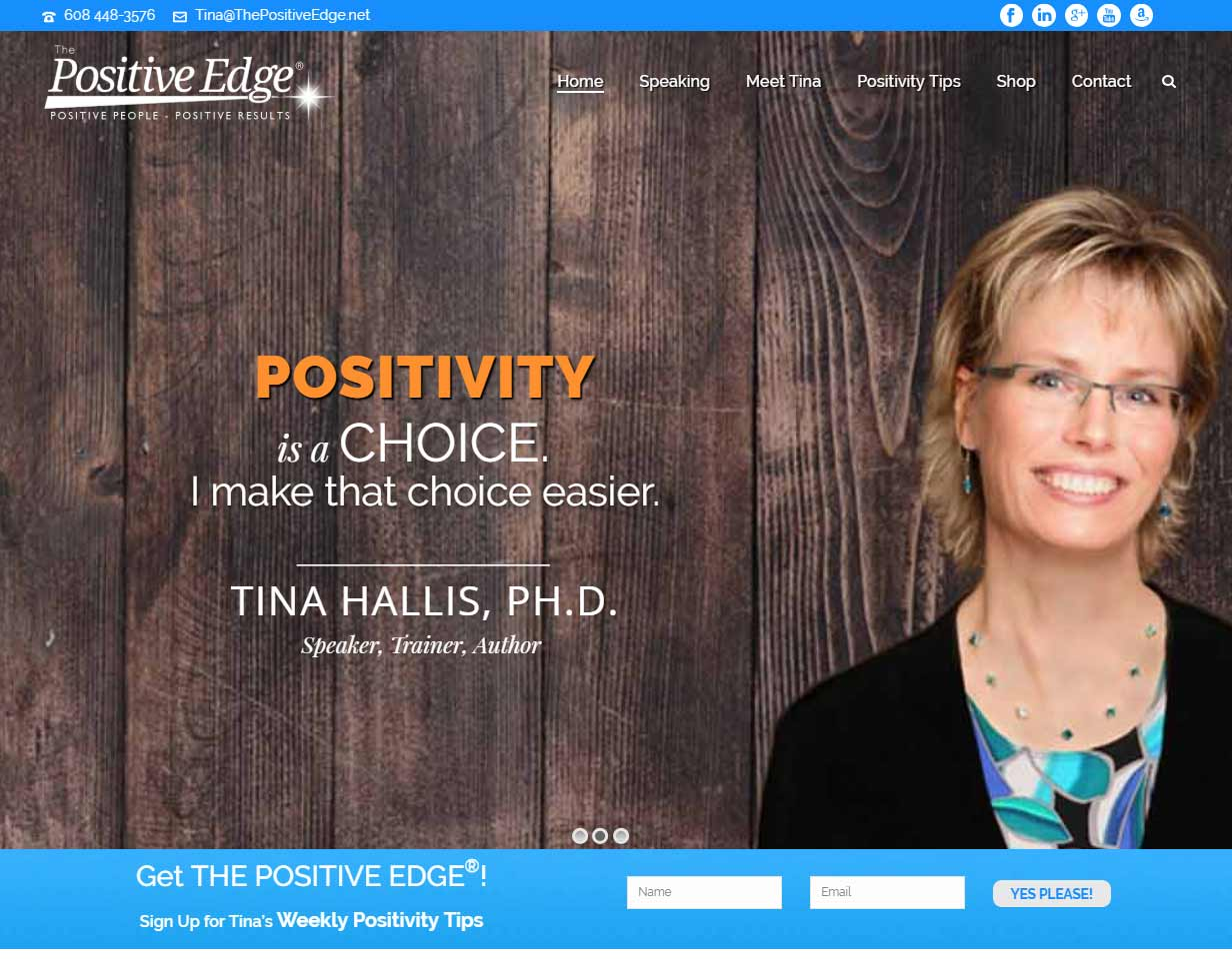 the positivity speaker tina hallis