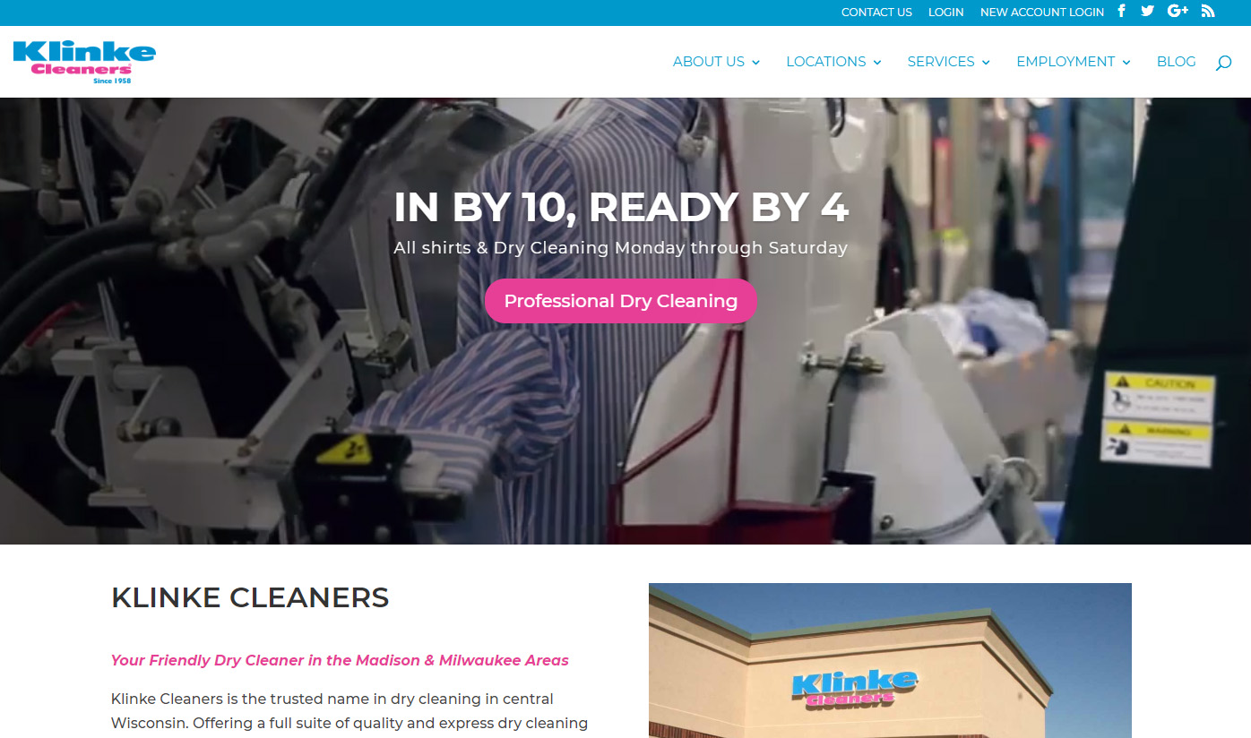klinke cleaners website